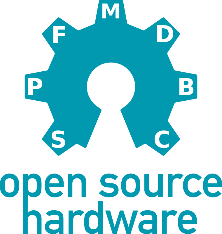 Open Source Hardware Logo (800px) with Release Symbols