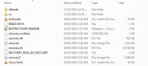 Noobs Lite Extracted Folder