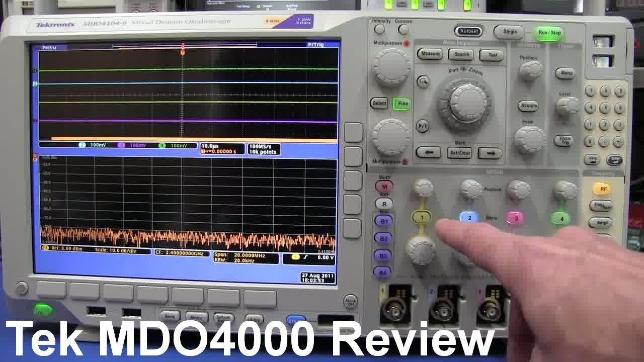 EEVblog #199 – Tektronix Mixed Domain Oscilloscope MDO4000 Review