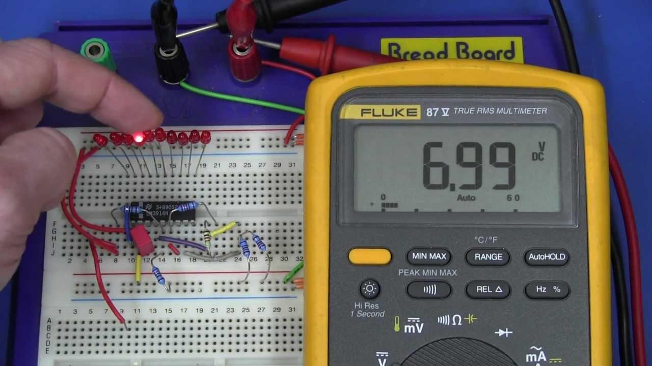 EEVblog #204 – Designing a Li-Ion Battery Gauge with the LM3914