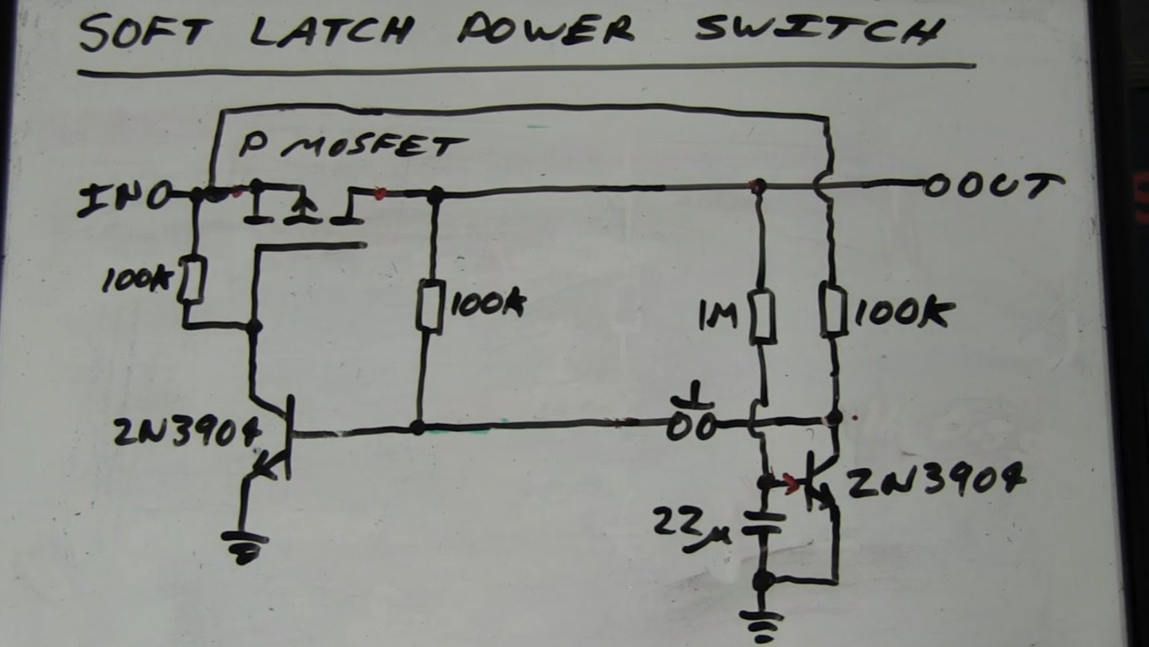 EEVblog #262 – World's Simplest Soft Latching Power Switch Circuit