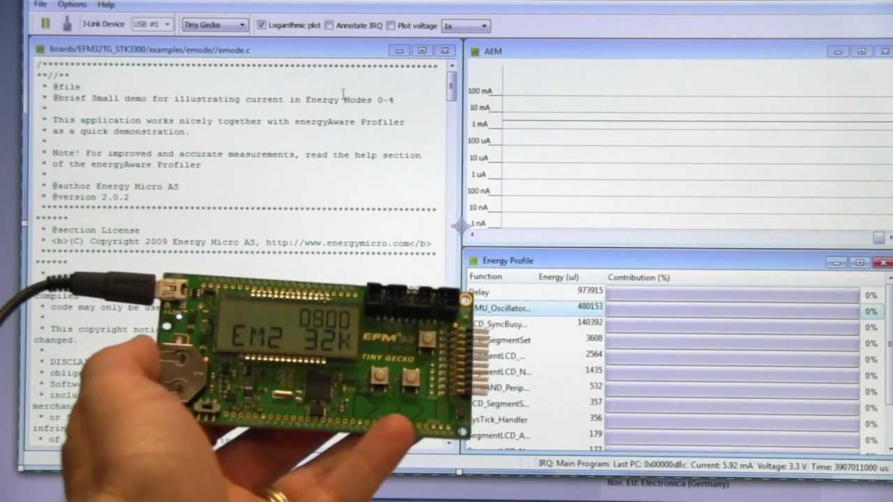 EEVblog #269 – Energy Micro Tiny Gecko