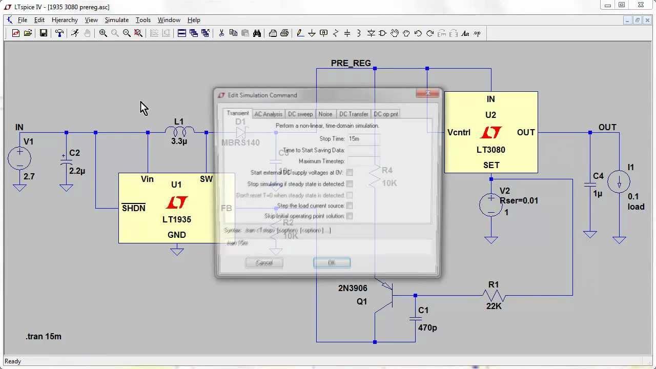 EEVblog #329 – Tracking Pre-Regulator LTspice Simulation Part 2