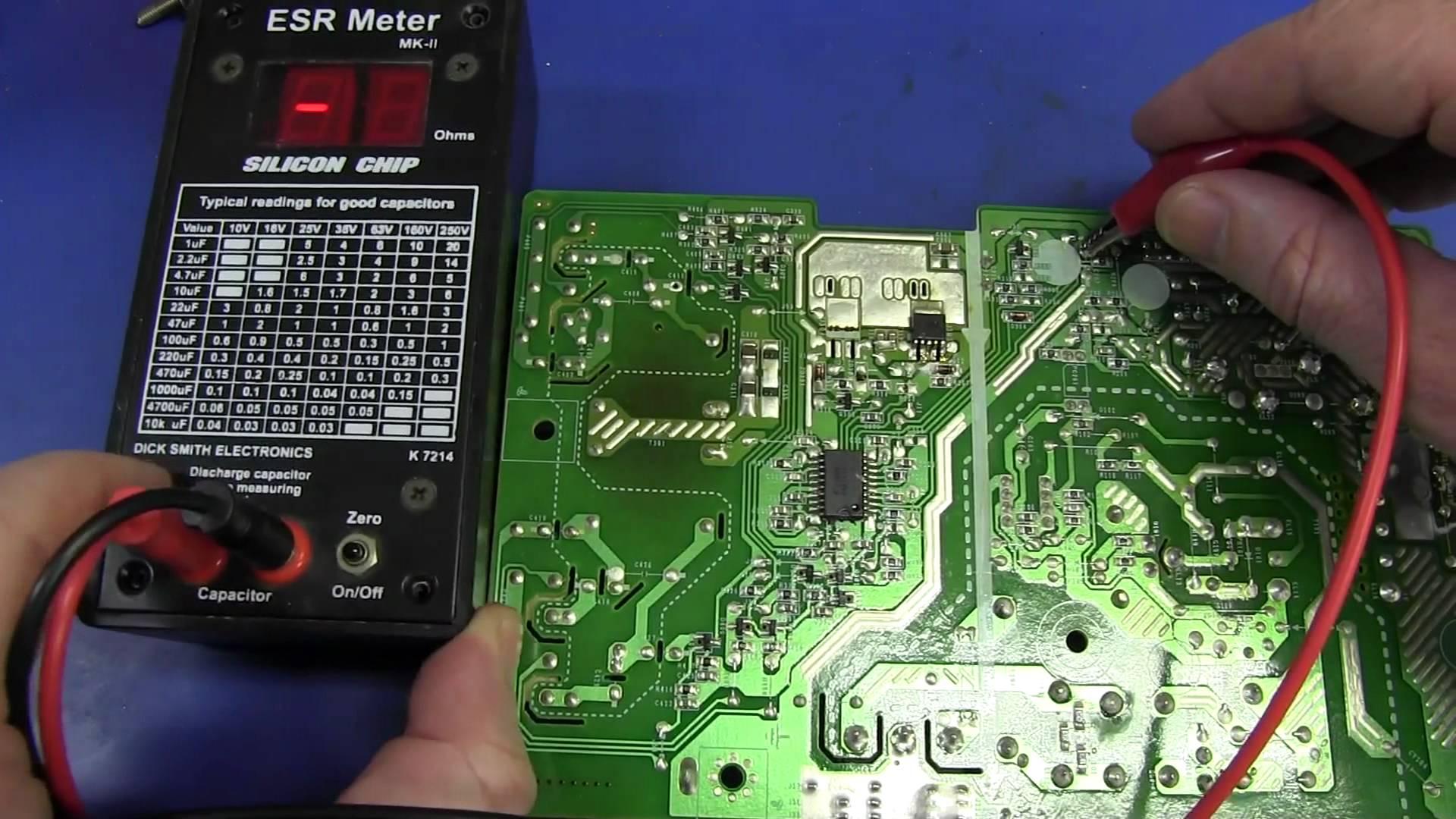 EEVblog #365 – ESR Meter Bad Cap Monitor Repair