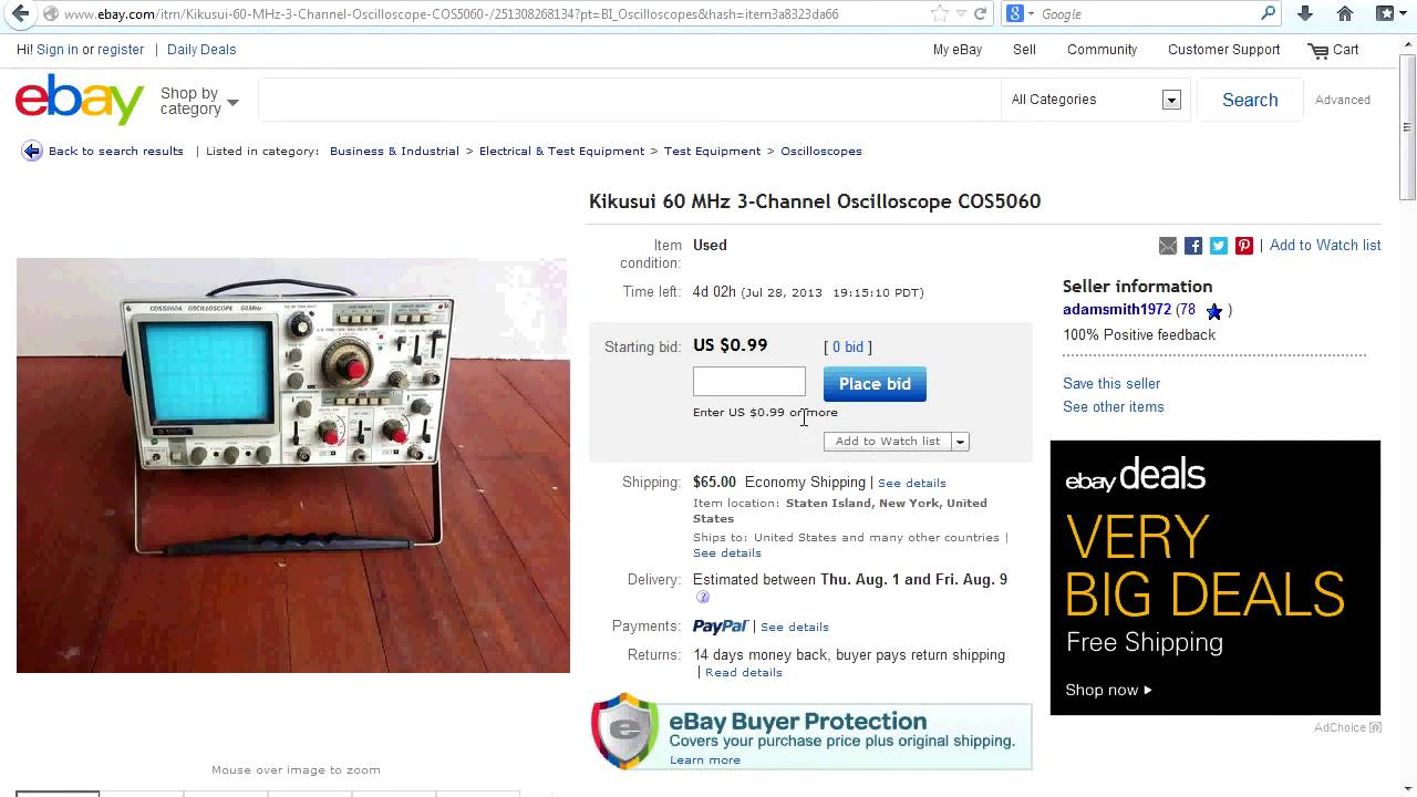 EEVblog #498 – How to get a $50 Oscilloscope on Ebay