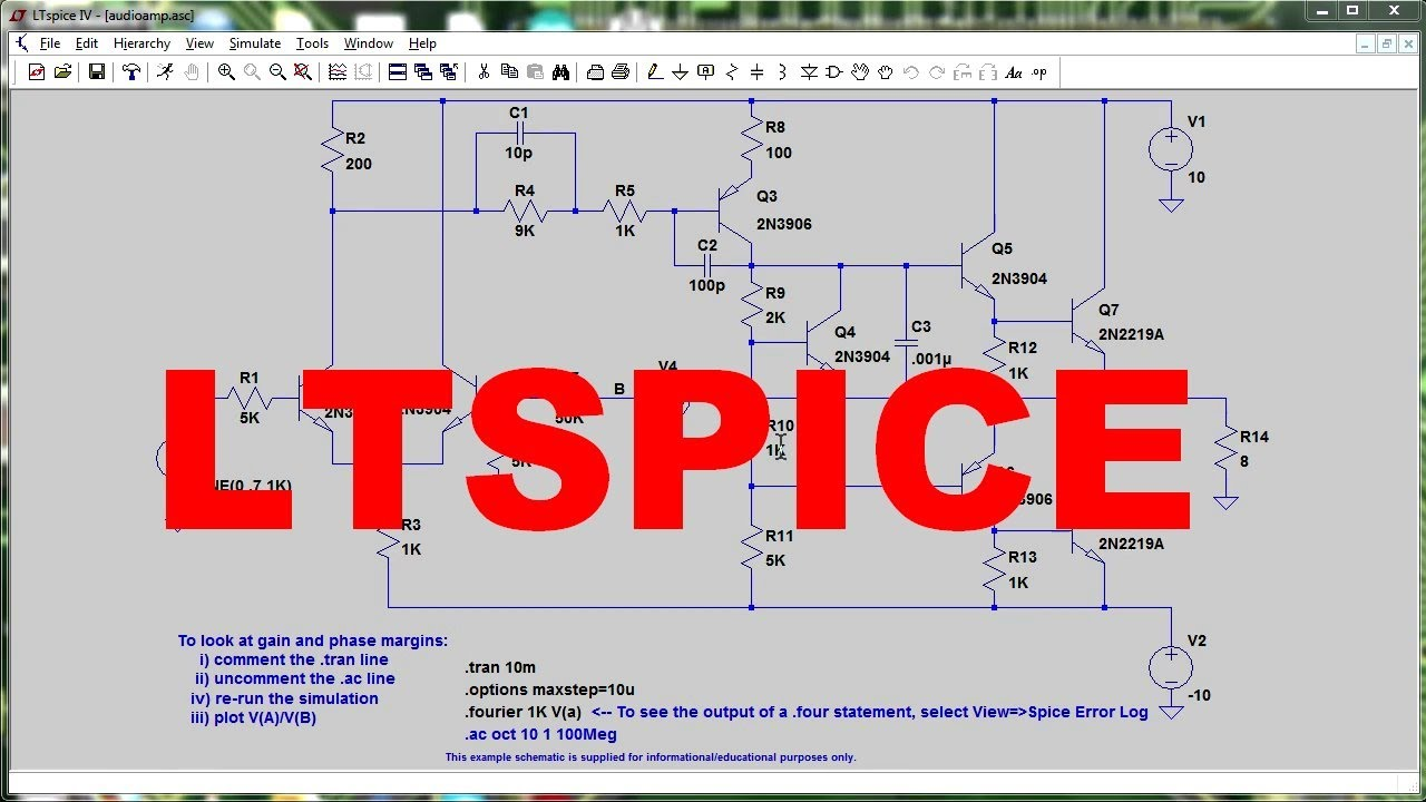 EEVblog #516 – LTSPICE Tutorial – DC Operating Point Analysis