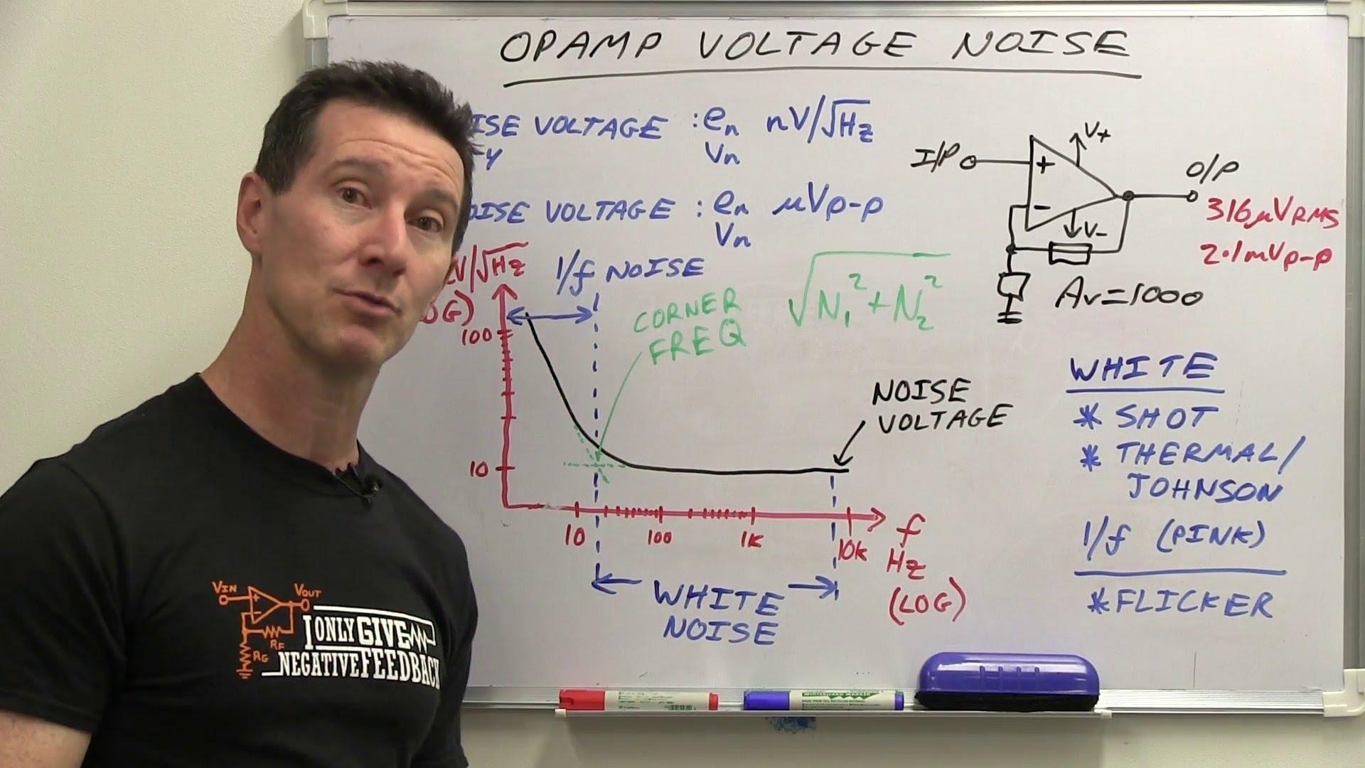 EEVblog #528 – Opamp Input Noise Voltage Tutorial