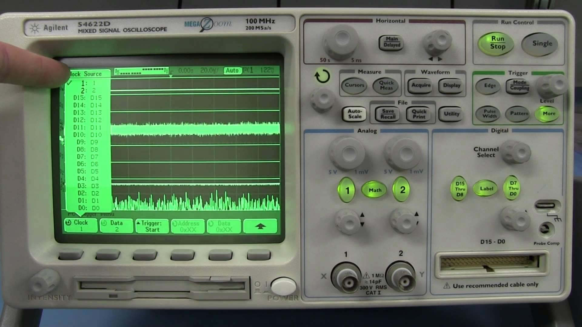 EEVblog #591 – Agilent 54622D Retro Mixed Signal Osciloscope Review & Teardown