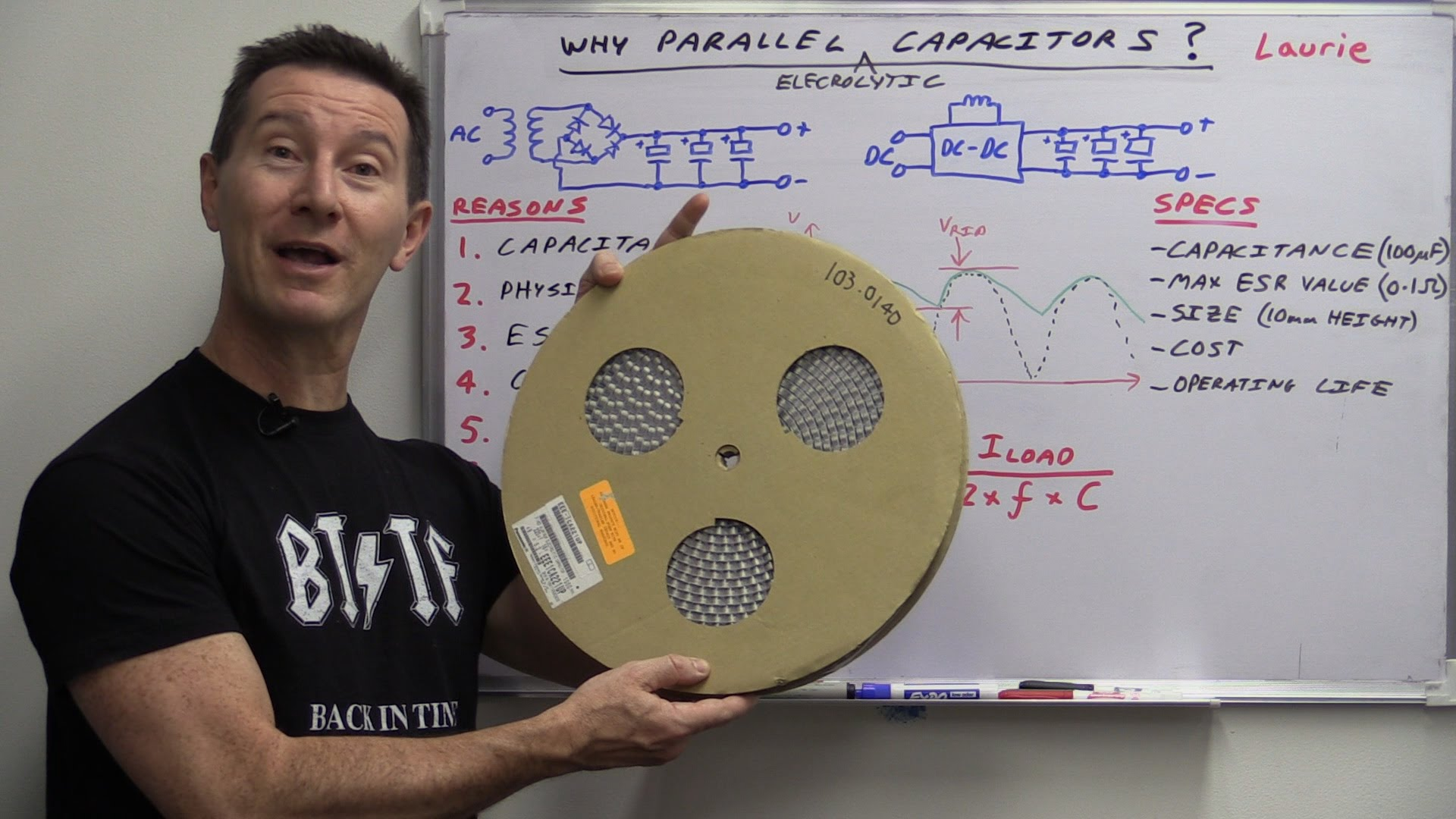 EEVblog #742 – Why Electrolytic Capacitors Are Connected In Parallel