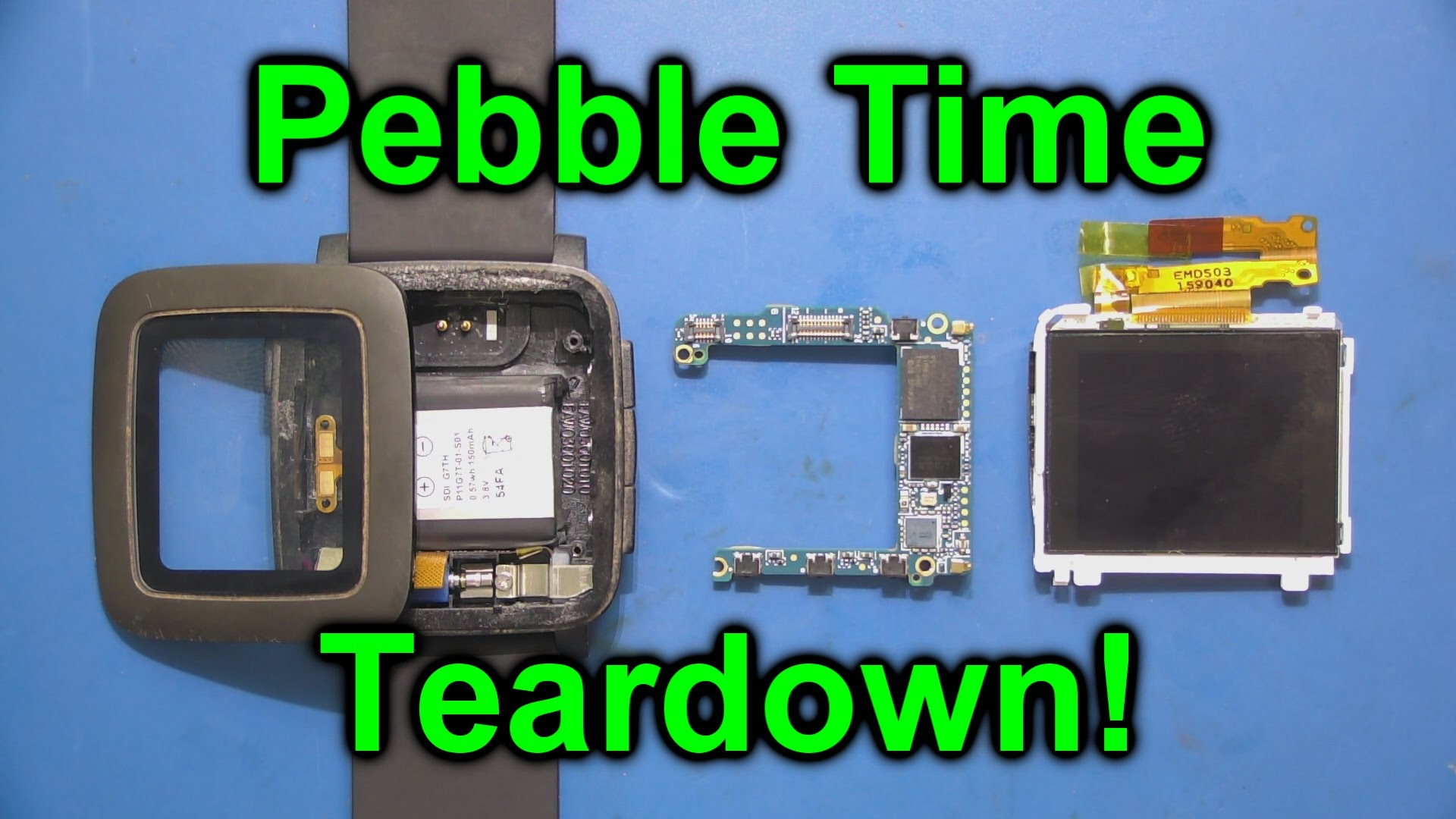 EEVblog #761 – Pebble Time Smartwatch Teardown